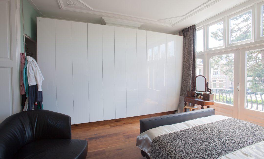 modern wardrobe in a classic room