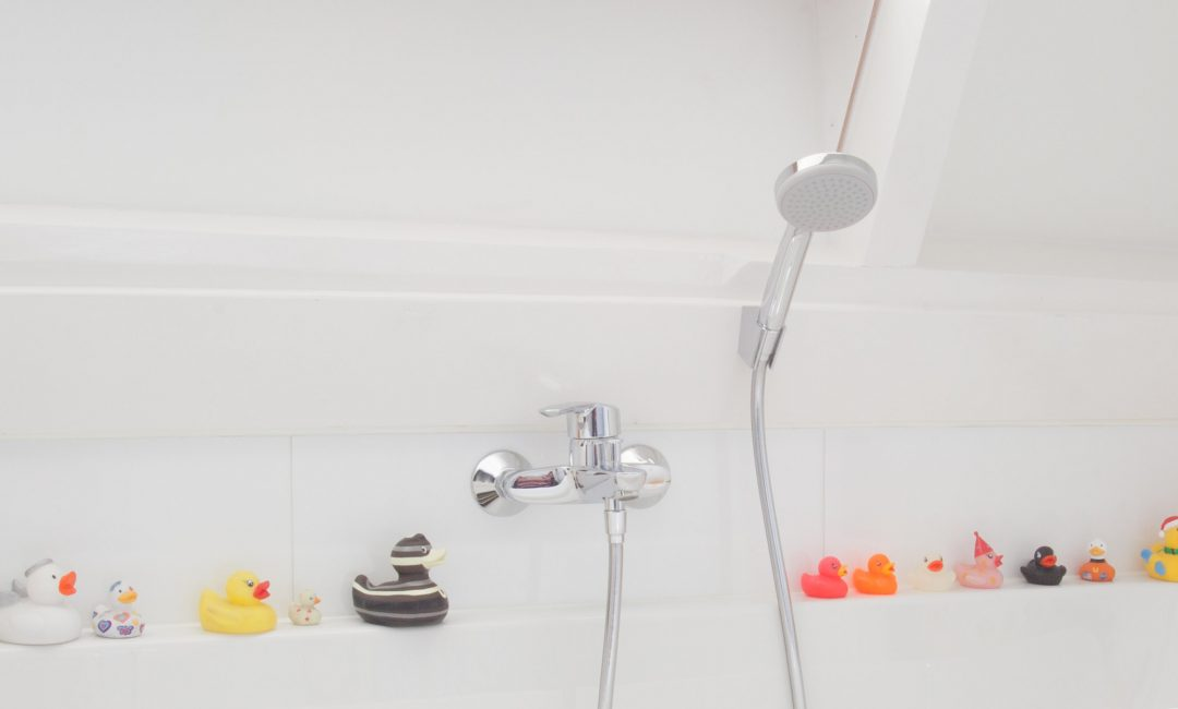 Ducks in a children's bathroom